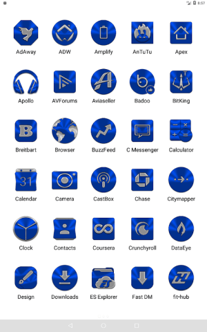 Blue Icon Pack ✨Free✨ 3.8 Screen 19