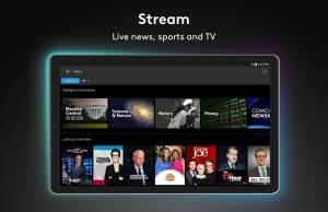Android Xfinity Stream Screen 1