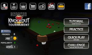 Android Snooker Knockout Tournament Screen 4