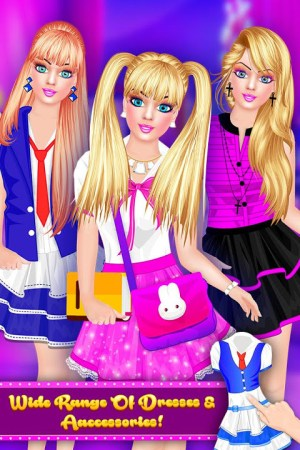 Android Fashion Doll - Back to School Dress Up Game Screen 3