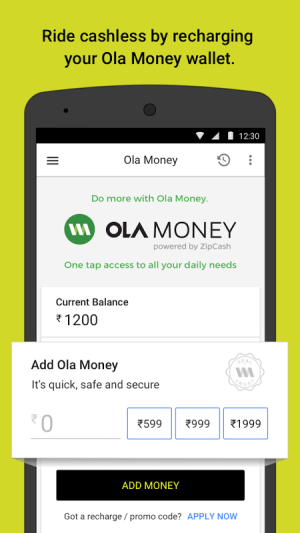 Ola cabs - Taxi, Auto, Car Rental, Share Booking 4.5.5 Screen 6