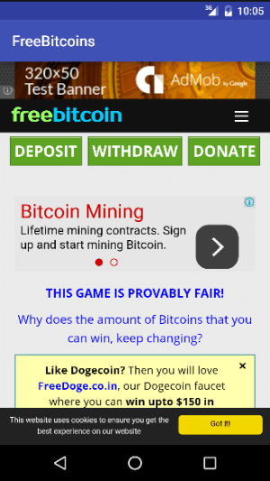 FreeBitcoin 1.0.2 Screen 4