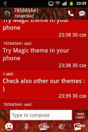 Android GO SMS PRO Theme Magic Mosaic Screen 1