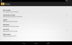 WiFi Pro FTP Server 1.9.5 Screen 2