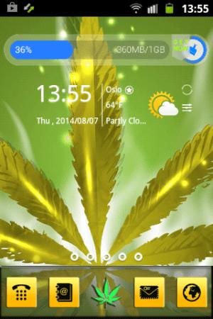 Weed Reggae HD GO Launcher 3.13 Screen 1