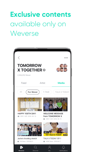 Weverse 1.2.3 Screen 1