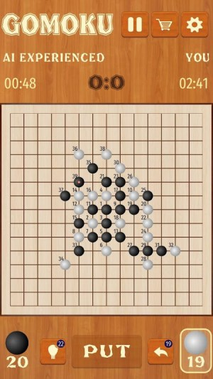 Android Gomoku Renju free puzzle five in a row tic tac toe Screen 5