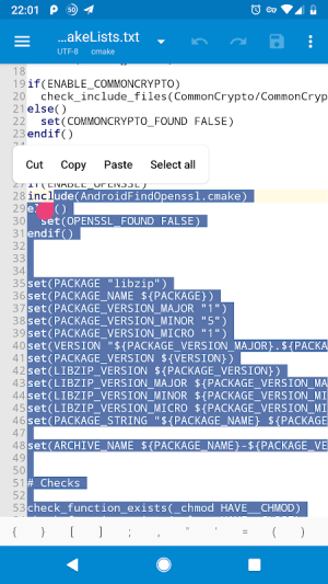 NMM Text Editor 1.5.0 Screen 1