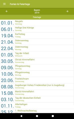Deutsche Feiertage & Ferien 37.0 Screen 9