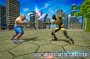 Superhero Panther Flying City Survival 1.0 Screen 1