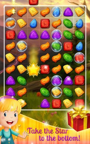 Android Sweet Gems and Candy Match 3 Screen 2
