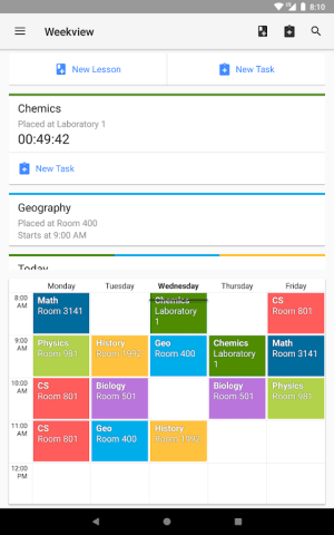 Android Timetable Screen 8