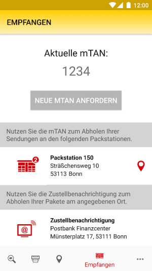 DHL Paket 2.25.1 Screen 1