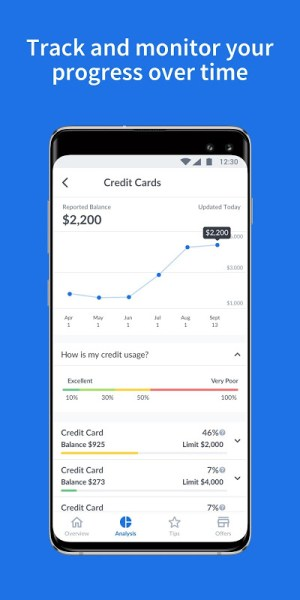 Credit Sesame-Personalized Credit Score Tips 4.10 Screen 1