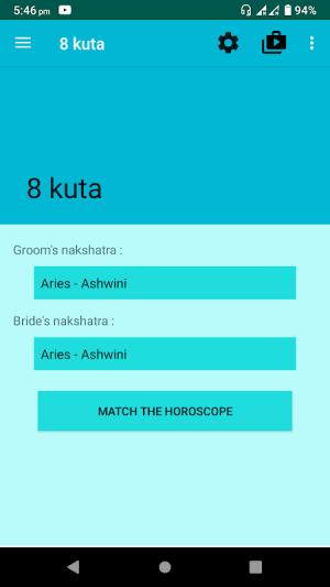 Android Nakshatra Matching Calculator | Kundli Milan Screen 4
