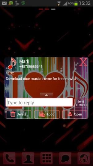 GO SMS Pro Theme 4 music 2.4 Screen 3