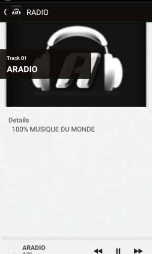 ARADIO 1.2.3.12 Screen 3