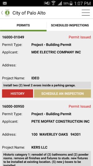 Palo Alto Inspection Request 3.4 Screen 1