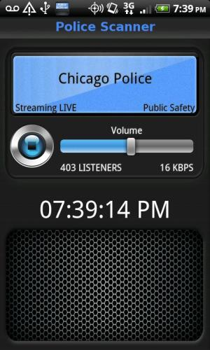 Police Scanner FREE 2.8 Screen 1