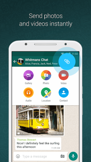 WhatsApp Messenger 2.21.3.8 Screen 1