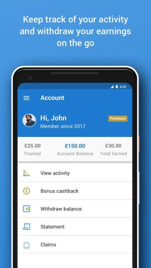 Android Quidco - Cashback, Discounts & Voucher Codes Screen 2