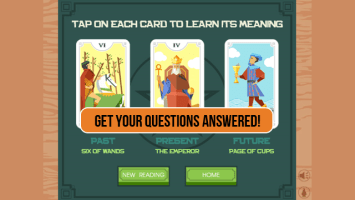 3 Card Tarot Reading Screen