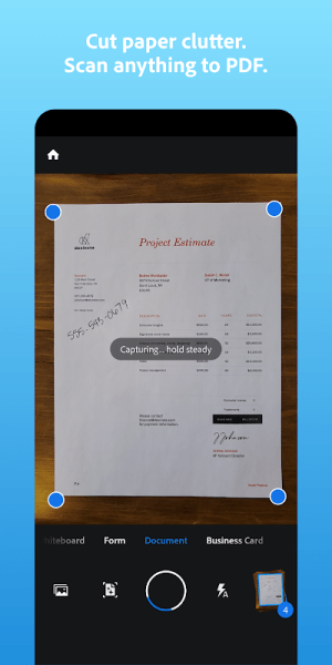 Adobe Scan: PDF Scanner with OCR, PDF Creator 20.12.09-galaxyStore Screen 3