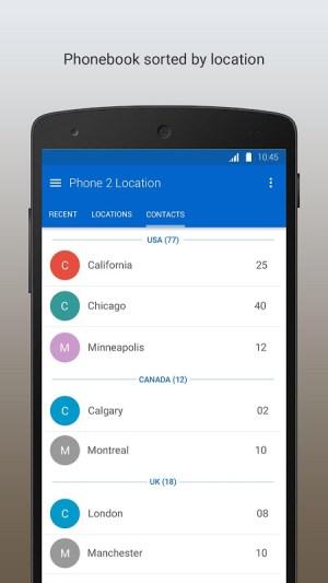Android Phone 2 Location - Caller ID Mobile Number Tracker Screen 1