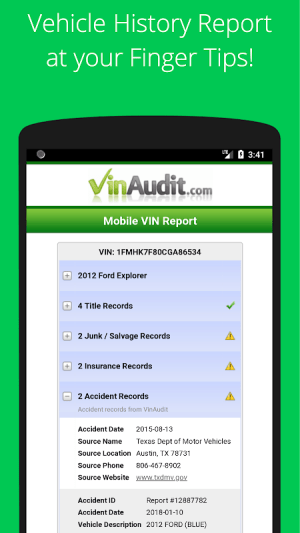 Vehicle History Report Free >> Free Vin Check Report History For Used Cars Tool Apks