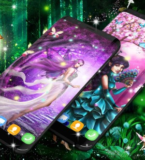 Forest fairy magical night live wallpaper 13.4 Screen 1