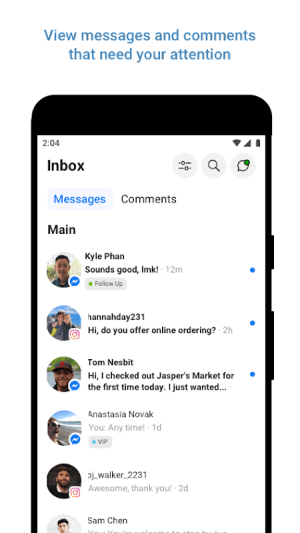 Android Facebook Business Suite (Pages Manager) Screen 1