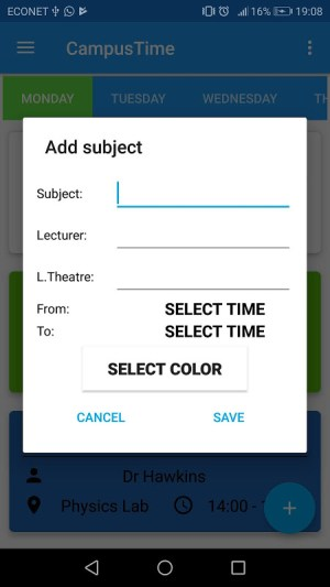 Campus Time - School Timetable Maker 3.0.0 Screen 2