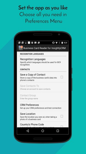 Business Card Reader for Insightly CRM 1.1.145c Screen 4