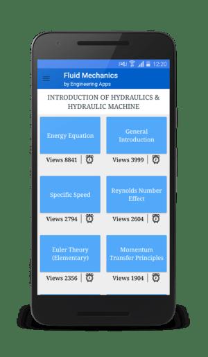 Android Fluid mechanics Screen 1
