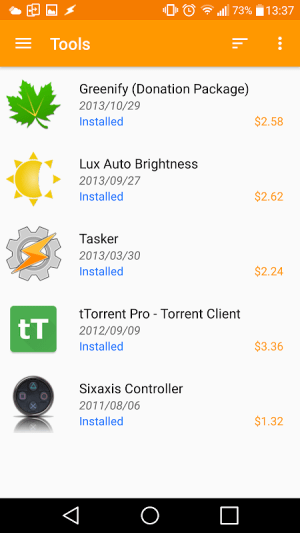 Purchased Apps (Restore your paid apps) 2.4.2 Screen 3