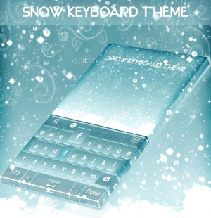 Android Snow Keyboard Theme Screen 4