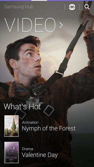 Android Samsung Hub Screen 1