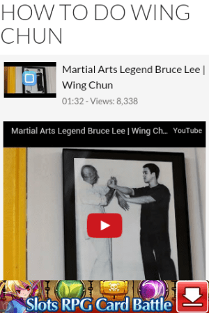 Android How to Do Wing Chun Screen 3
