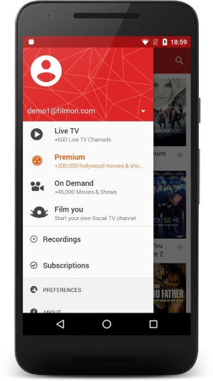 Android FilmOn Free Live TV Screen 3