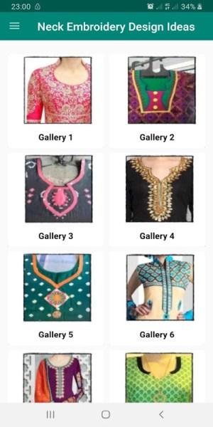 Neck Embroidery Design Idea For Ladies 4.0.3 Screen 6
