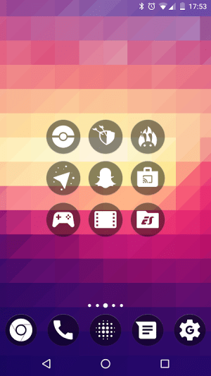 Android GEL DARK - Icon Pack Screen 3