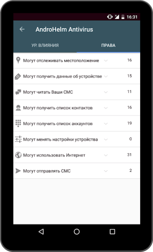AntiVirus Android for Tablet 2.6.6 Screen 8