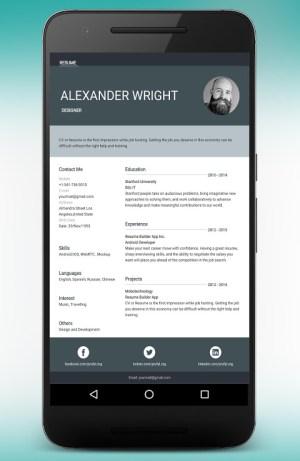 CV Maker Resume Builder PDF Template Format Editor 9.1.18.pro Screen 5