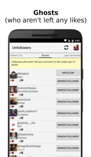 Unfollowers for Instagram 2.6.9 Screen 1
