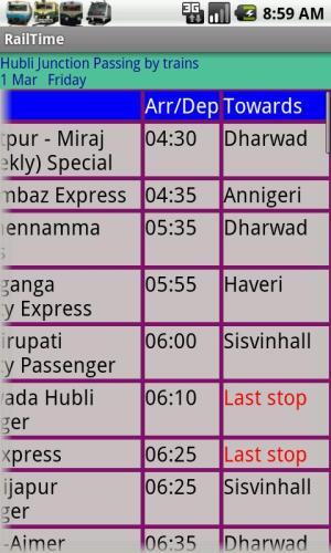 IndianRailway Offline TimeTabl 1.041 Screen 7