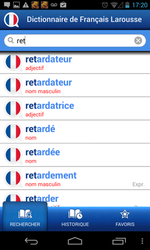 French Larousse dictionary 5.0.1 Screen 1