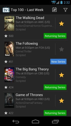 TV Show Favs 4.0.0 Screen 3