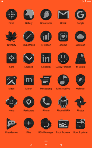 Black Icon Pack Free 3.9 Screen 6