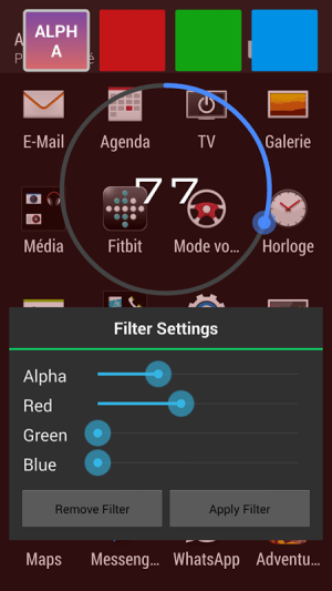 Android Screen Filter Screen 1