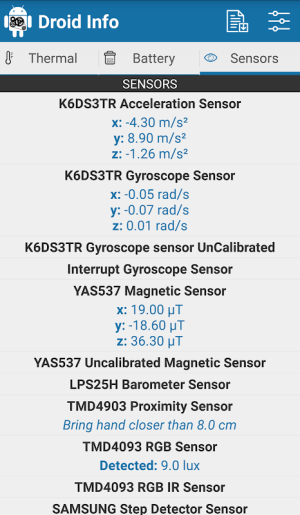 Droid Hardware Info 1.2.2 Screen 10